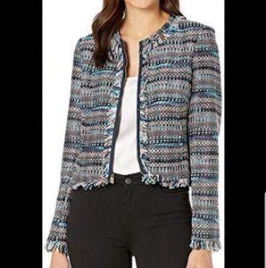 Juicy Couture Blk Label fringe Tweed jacket. Sz 10